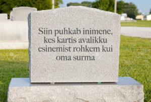 Uuring: Kas eestlased kardavad esinemist rohkem kui surma?